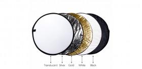 Reflector de luz para fotografía 24 pulgadas