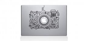 Vinyl cámara abstracta MacBook